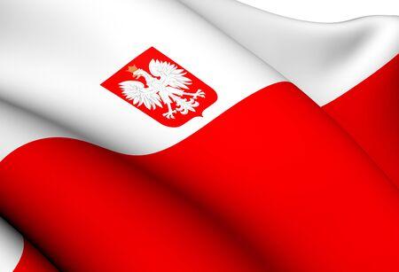Flag of Poland. Close Up.  Stock Photo - 13525703