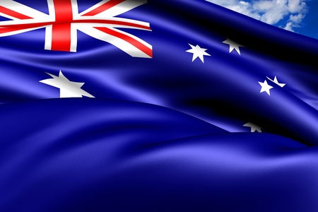 Flag of Australia. Close Up.    Stock Photo