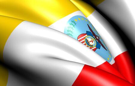 columbus: Flag of Columbus, USA. Close Up.