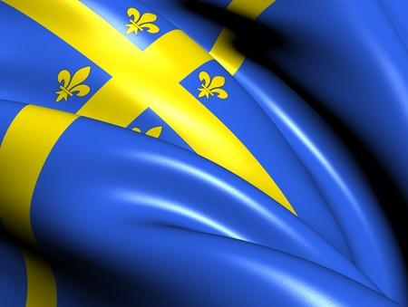 blason: Chalons-en-Champagne Flag, France. Close Up.
