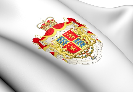 prince of denmark: Henrik, Prince Consort of Denmark Coat of Arms. Close Up.    Stock Photo