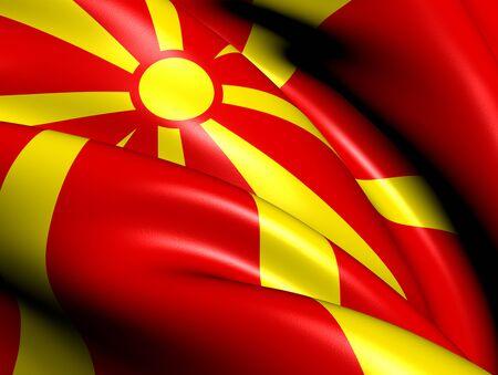 Flag of Macedonia. Close Up.
