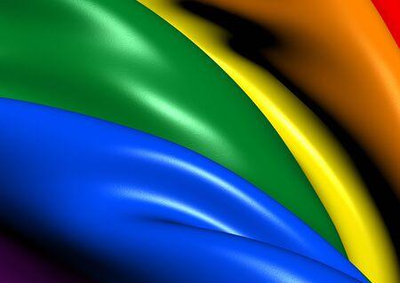 LGBT Flag. Close Up. 3D.     photo