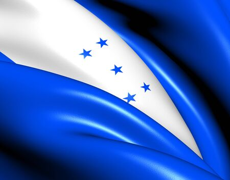 Bandera de Honduras. Close Up. photo