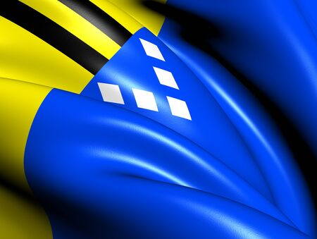 Flag of Sudwest-Fryslan, Netherlands. Close Up.    photo