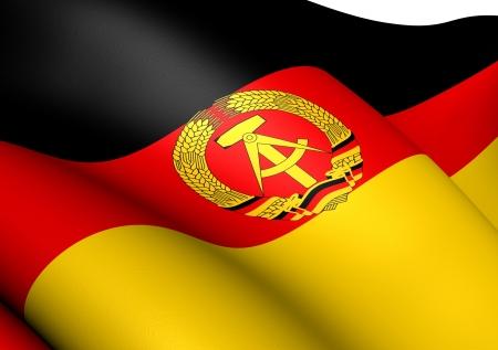 Flag of German Democratic Republic. Close Up.