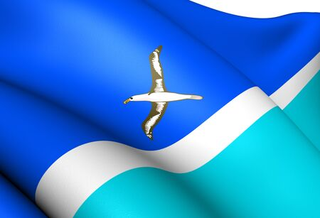 midway: Flag of Midway Islands. Close Up.