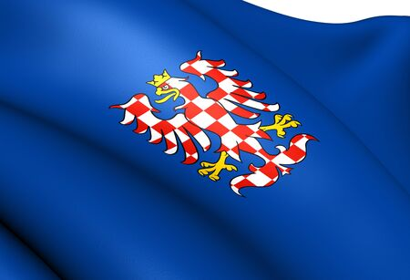 Flag of Moravia. Close Up.    photo