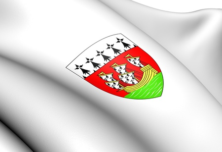 blason: Nantes Coat of Arms, France. Close Up.    Stock Photo