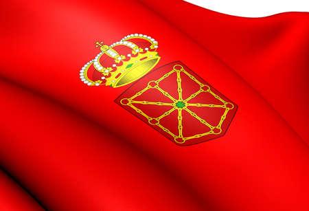 navarra: Flag of Navarra, Spain. Close Up.