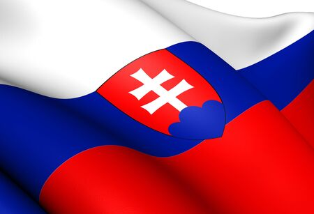Flag of Slovakia. Close Up.   photo
