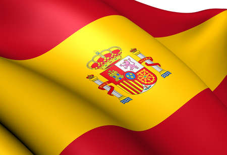 Flag of Spain. Close Up.    photo