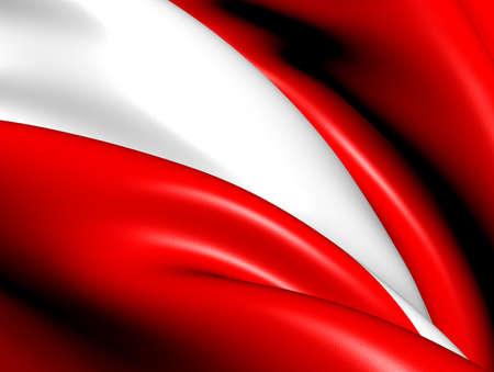 austrian flag: Flag of Austria. Close Up.