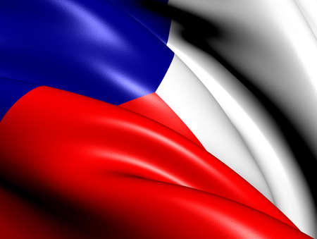 Flag of Czech Republic. Close Up.    photo