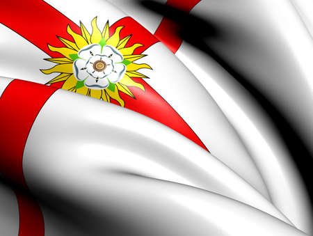 yorkshire: Flag of Yorkshire (unofficial). Close Up.