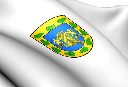 mexico city: Mexico City Flag, Mexico. Close Up.