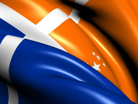 british isles: Isles of Scilly Flag. Close Up.  Stock Photo
