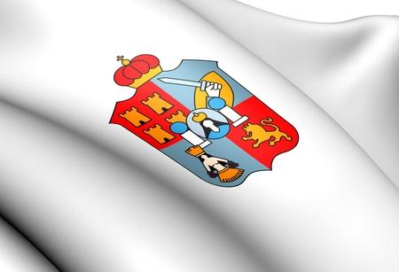 tabasco: Flag of Tabasco, Mexico. Close Up.