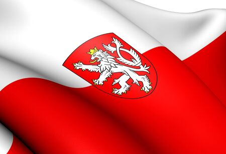 Flag of Bohemia. Close Up.    photo