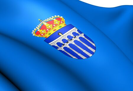 Flag of Segovia City, Spain  Close Up   photo