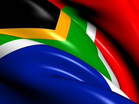 rsa: Flag of South Africa  Close Up