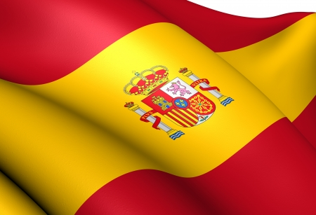 Flag of Spain  Close Up