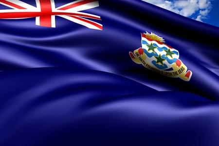 brutish: Flag of Cayman Islands. Close Up.