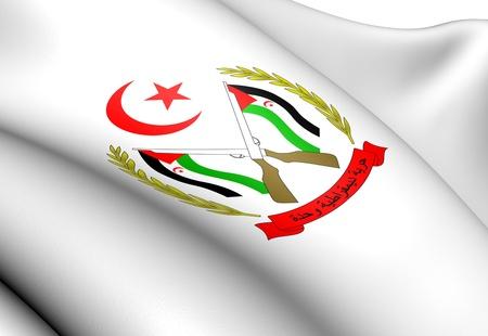 sahrawi arab democratic republic: Sahrawi Arab Democratic Republic Coat of Arms  Close Up     Stock Photo