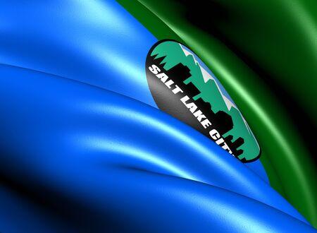 salt lake city: Flag of Salt Lake City, USA  Close Up     Stock Photo
