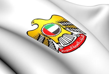 United Arab Emirates Coat of Arms  Close Up   photo