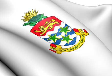 brutish: Cayman Islands Coat of Arms. Close Up.