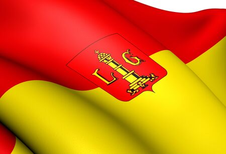 liege: Flag of Liege, Belgium. Close Up.