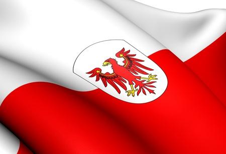 tyrol: Flag of Tyrol, Austria  Close Up     Stock Photo