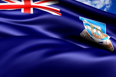 brutish: Flag of Falkland Islands. Close Up.