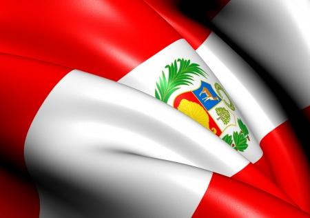 bandera de peru: Bandera de Perú. Close Up.