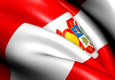 Flag of Peru (War). Close Up.    photo