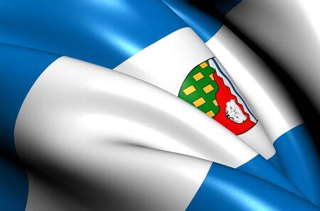 northwest: Flag of Northwest Territories, Canada  Close Up