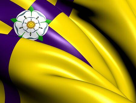 yorkshire: Flag of Yorkshire  Saints   Close Up