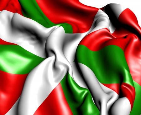 basque country: Flag of Basque Country. Close Up.