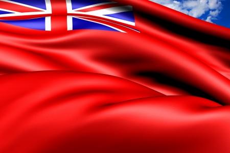 ensign: British Red Ensign  Close Up