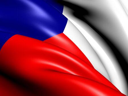Flag of Czech Republic  Close Up     photo