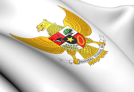 Indonesia Coat of Arms  Close Up     photo