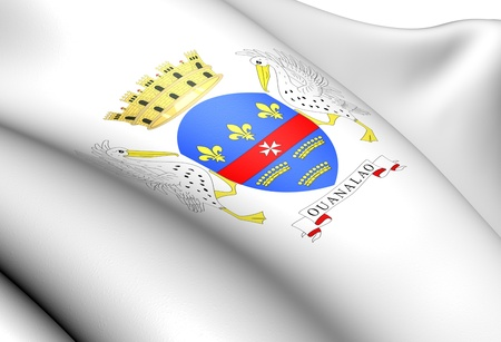 collectivity: Saint Barthelemy Coat of Arms  Close Up