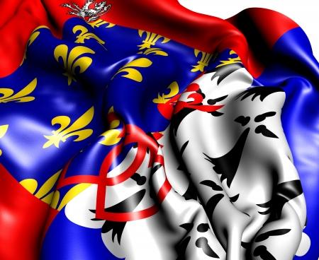 blason: Pays De La Loire Flag, France. Close Up.