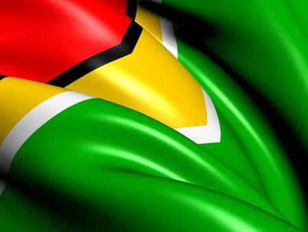 Flag of Guyana. Close Up.  photo
