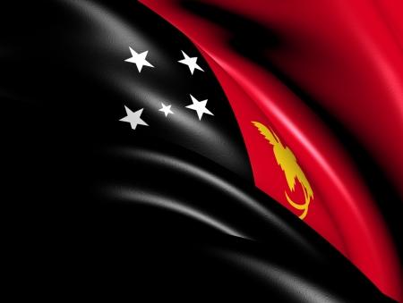 papua: Papua New Guinea Flag  Close Up