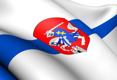 Flag of Siedlce, Poland  Close Up     photo
