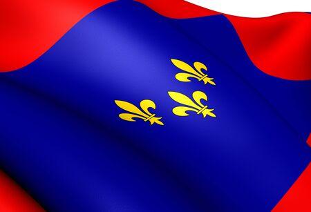 anjou: Bandera de Anjou, Francia. Close Up.