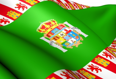 Flag of Cadiz Province, Spain. Close Up.  photo