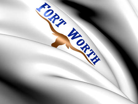 Flag of Fort Worth, USA. Close Up.    photo